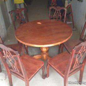 Thanh lý bàn ăn 6 ghế gia đình