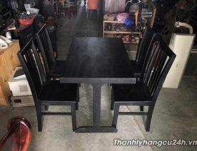 Thanh lý bàn ghế cafe gỗ màu đen