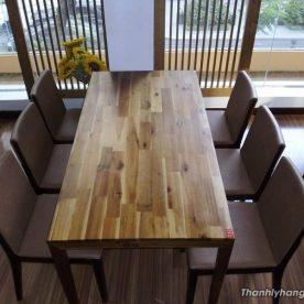 Thanh lý bàn ghế gỗ dài nhà hàng