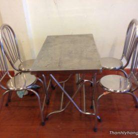 bàn ghế inox quán ăn