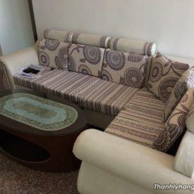 Thanh lý bàn ghế sofa gia đình màu kem