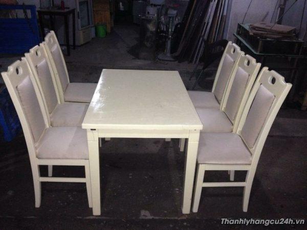 bàn ghế ăn trắng